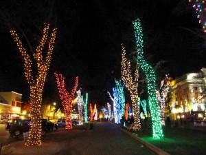 Christmas lights at Courthouse
